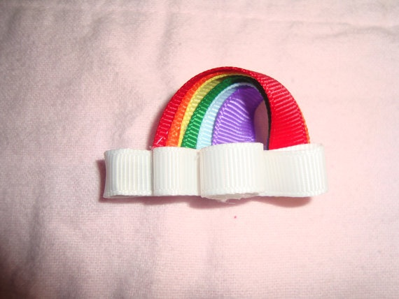 rainbow: Ribbon Art, Bow Tutorials, Art Sculptures, Girl Bows Sculptures, Ribbon Sculpture