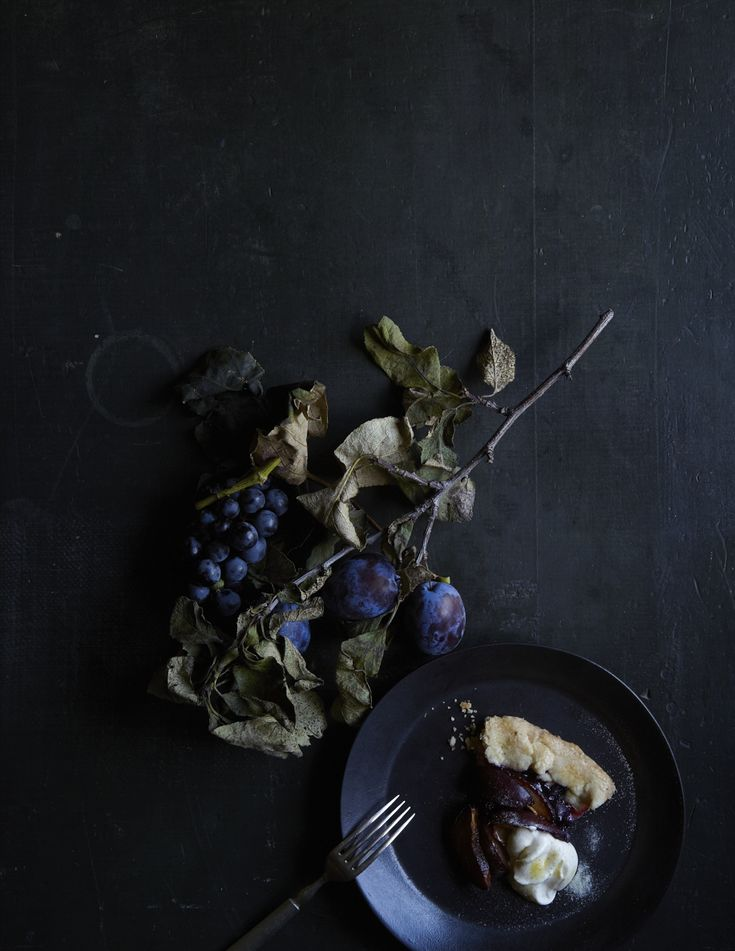 Concord Grape & Plum Tart