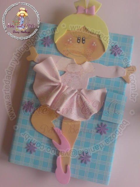 Cuaderno decorado Bailarina con Moldes #fofuchas #goma eva #foamy ...
