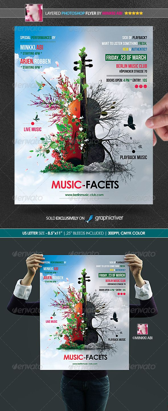 Poster design for technical events - Music Facets Poster Flyer