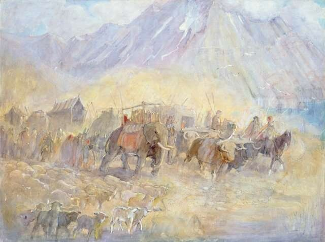 Journey of the Jaredites Across Asia by Minerva Teichert in 2020   Minerva  teichert, Mormon art, Art story