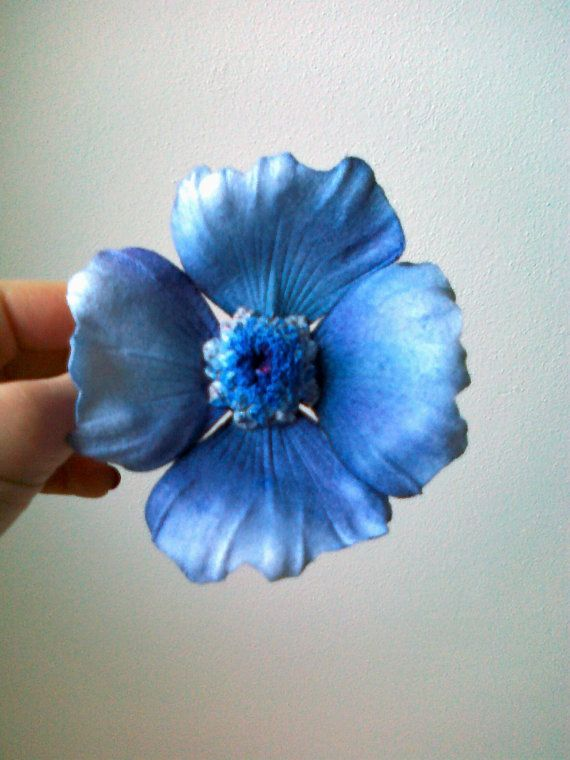 FREE SHIPPING fabric silk handmade anemone by AuthenticBlends