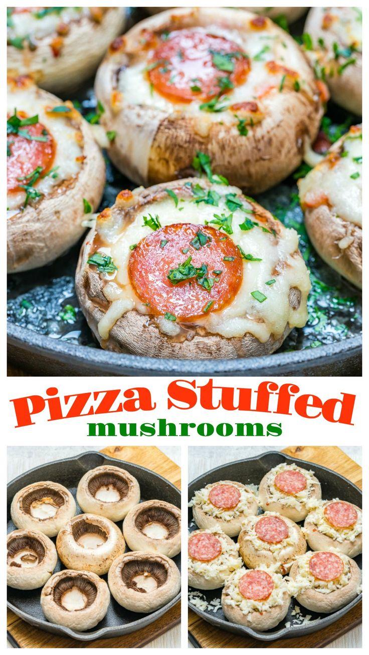 Pizza Stuffed Mushrooms Snacks