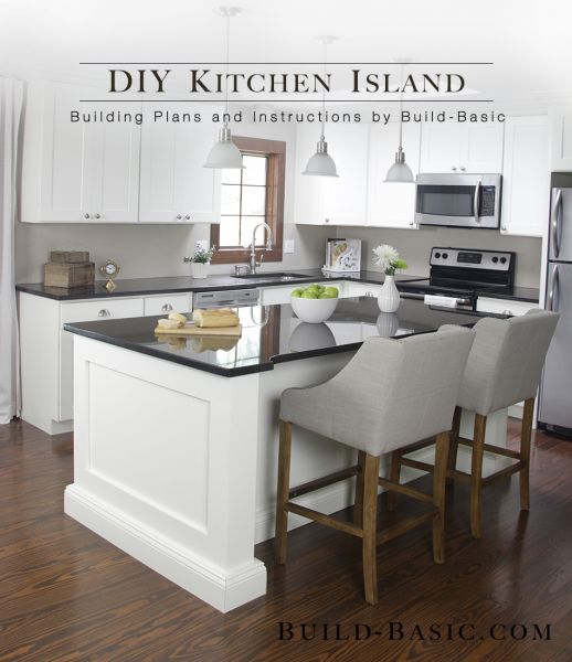 DIY Island that Ted could do  This kitchen island is made from a  surprisingly simple frame built around two stock cabinets  and can be sized  to fit ANY base  Best 25  Diy kitchen island ideas on Pinterest   Build kitchen  . Make A Kitchen Island From Stock Cabinets. Home Design Ideas