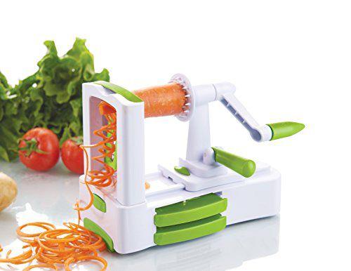 Vous voulez mettre un peu de folie dans vos plats ? Ce taille légume de Kuuk va vous les spiraliser et créer spaghetti de légumes et autres.