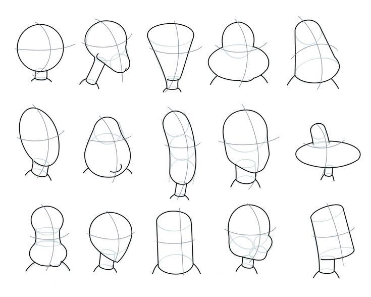 head shapes #cartoon #howtodraw