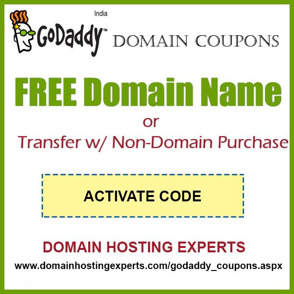 COUPON :  FREE Domain Name or Transfer w/ Non-Domain Purchase  Check the website to GET THE CODE  http://www.domainhostingexperts.com/godaddy_coupons.aspx   Washington, D.C. in Washington, D.C.