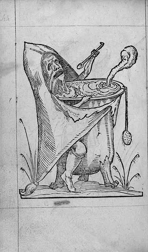 François Desprez,  f. D1 v° Dessin 44  Les Songes drolatiques de Pantagruel  A Paris : Par Richard Breton 1565