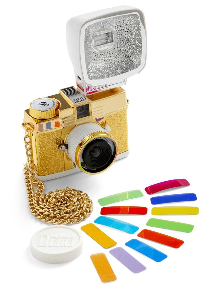 Diana Mini Gold Edition   Mod Retro Vintage Electronics   ModCloth.com  gahh i want this!!!