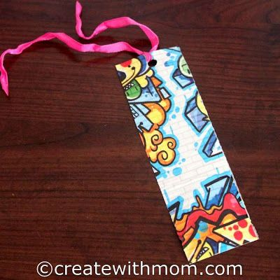 Making a bookmark with duct tape