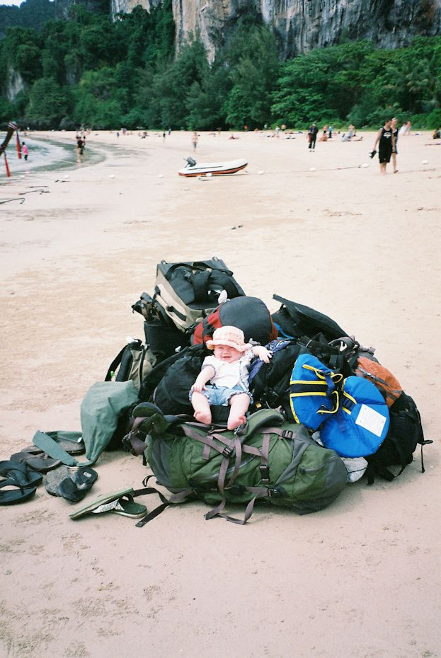 recently published article about backpacking with children. Asia with our 5 month old baby