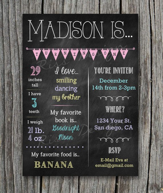 Customizable Baby's First Birthday Invitation