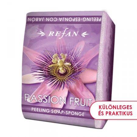 Maracuja szivacsos szappan - 2 az 1-ben bőrfeszesítő szivacsos szappan az édes maracuja vad, gyümölcsös illatával. Gyengéd bőrradírozó és feszesítő hatású. Mindennapi használata megelőzi a narancsbőr kialakulását, serkenti a vérkeringést. ©Refantázia