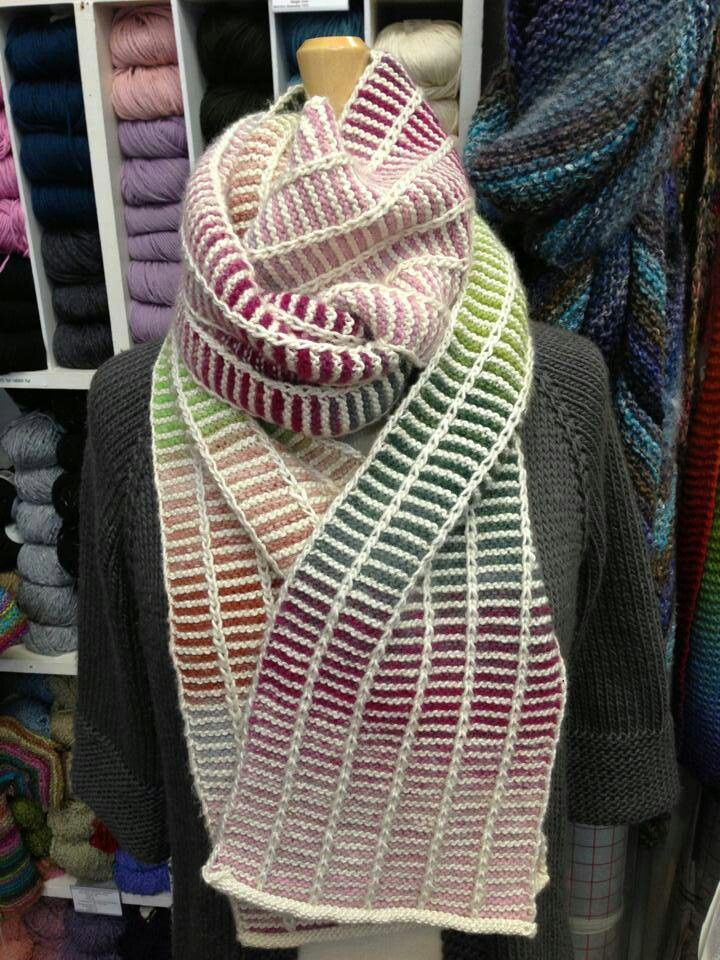 This is garter stitch, but could be done in stockinette. Looks like a fun pattern.                                                                                                                                                                                 More