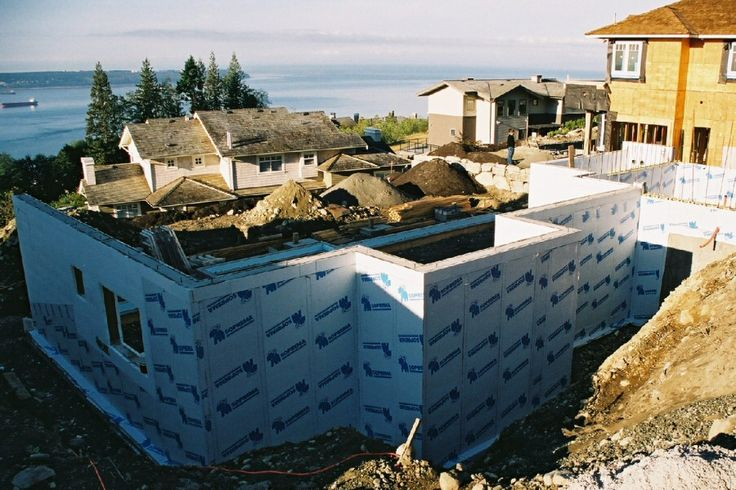 ICF Dampproofing with Peel & Stick Membrane Insulated