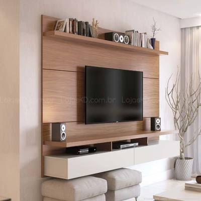Painel 2 Portas para TV até 60 Polegadas City 2.2 Natural/Off-White - Província
