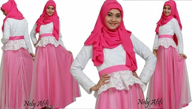 Party gown for muslimah