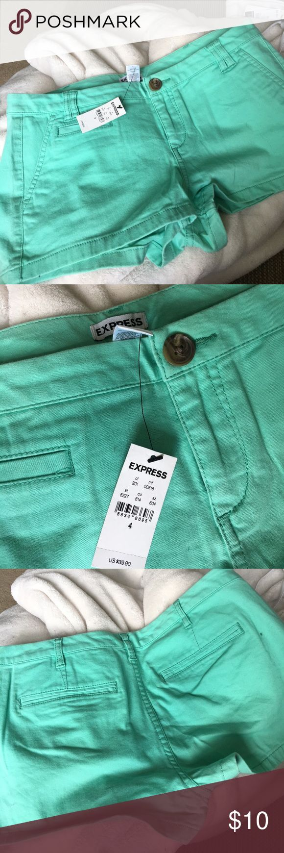 NEW EXPRESS Mint Green shorts NWT EXPRESS Mint Green shorts. Make an offer! Express Shorts