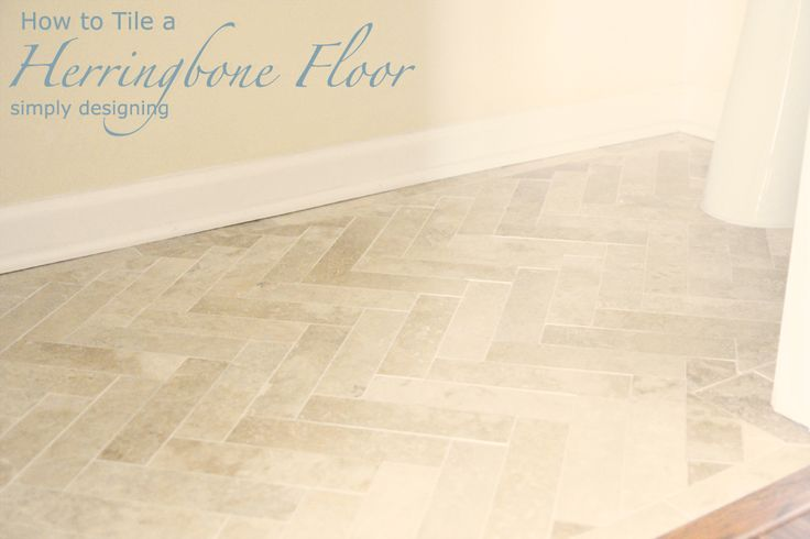 Super detailed page on how to lay a herringbone tile floor