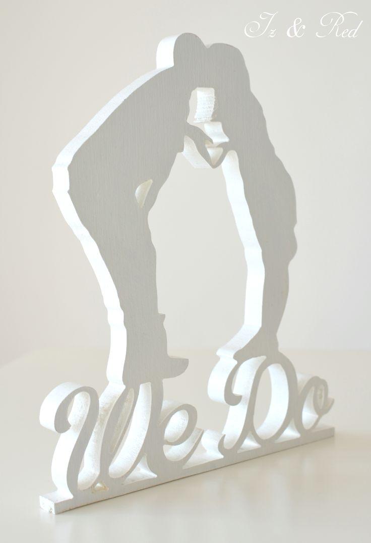 monogram na tort weselny - We Do - monogram wedding cake