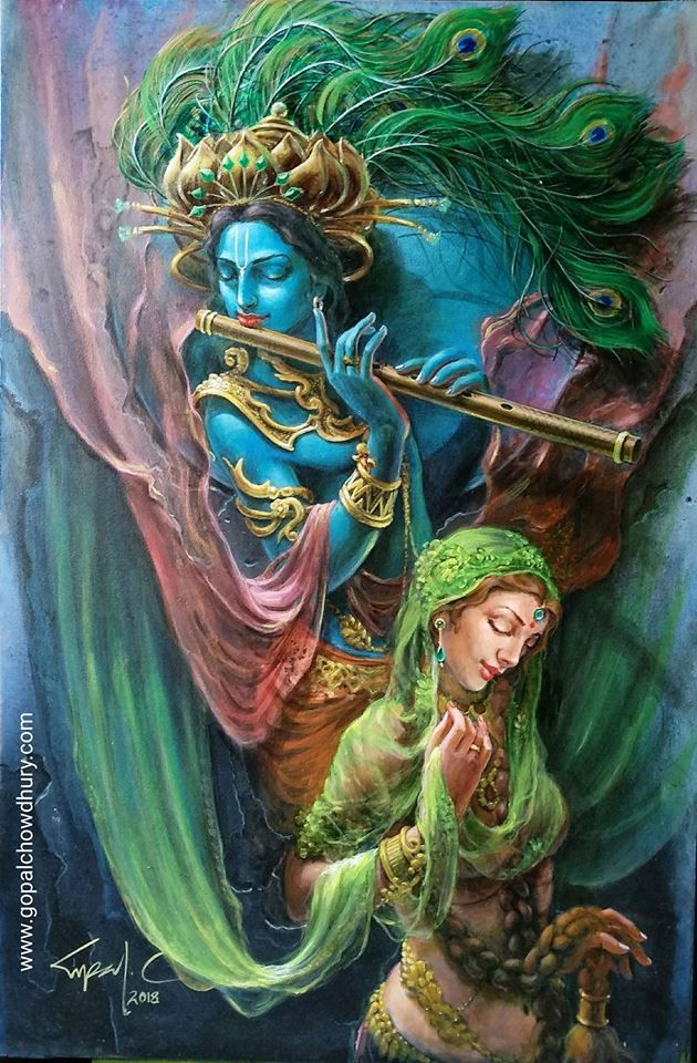 Pin by Artist viek on Krishna Paintings Ref in 2019 ...