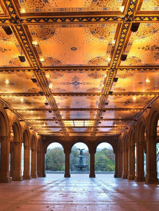 Bethesda Terrace in Central Park- 10 most instagrammable places in New York