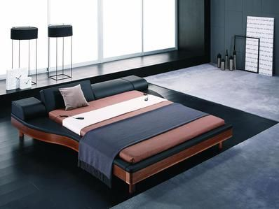 Vig Furniture Modrest Portofino Modern Adjustable Leather Bed