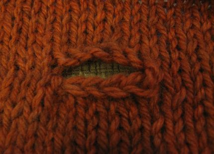 Constructing a Simple Knitted Buttonhole - CraftStylish