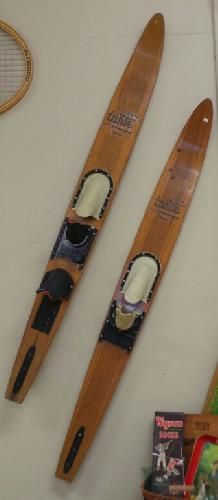 icollect247.com Online Vintage Antiques and Collectables - Western Wood Tahoe Water Skis 1960s-1970s Sports and