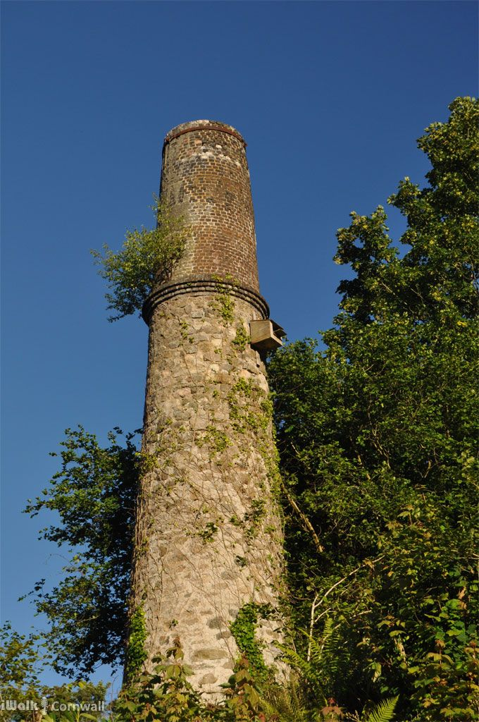 WHEAL RASHLEIGH | Near St Blazey, Cornwall: Chimney of Wheal Rashleigh dryers     ✫ღ⊰n