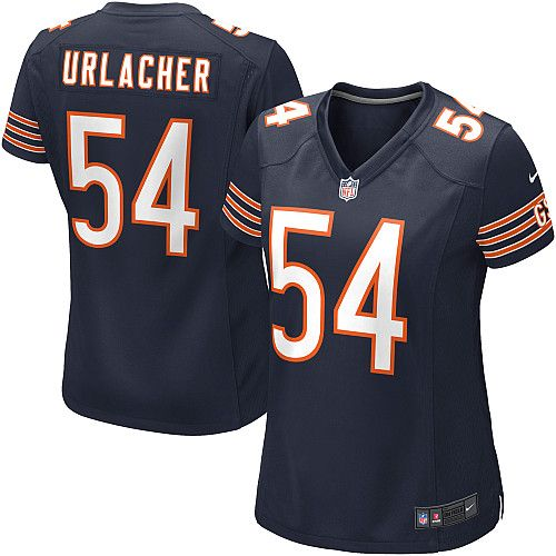 walter payton nfl nike game brian urlacher navy blue womens jersey chicago bears 54 nfl home