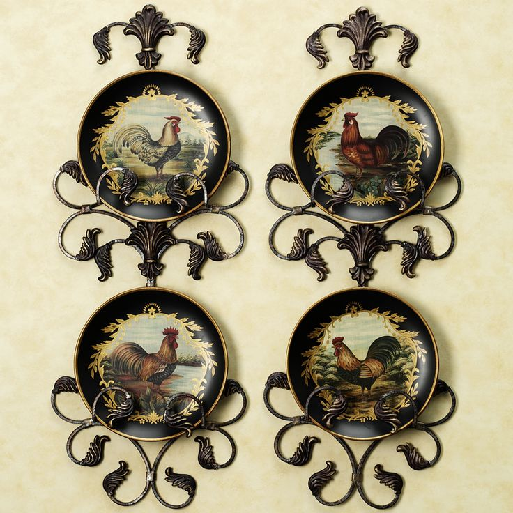 Sandpiper And Sea Oats Wall Set Set Of Two Rooster