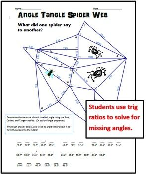 Angle Tangle Spider Web - Solving for Angles with ...