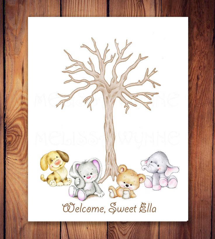Cute Animals Guest Book Alternative