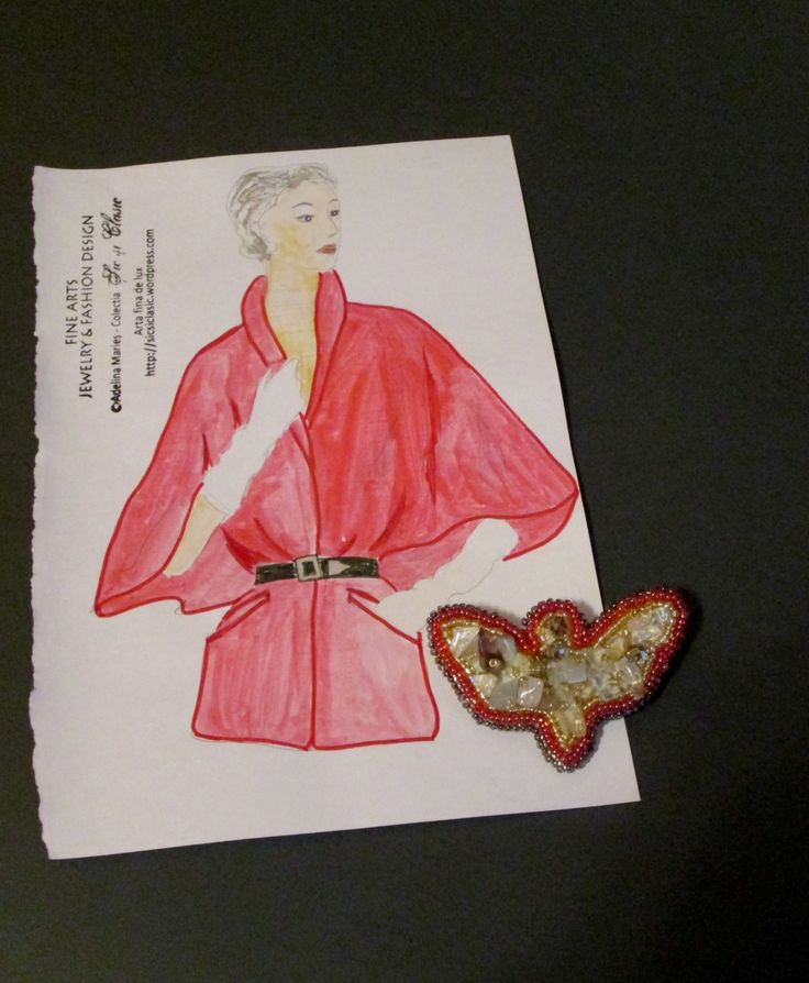 Playing with colors... As you noticed in a previous post I made a butterfly line of brooches. Perfect with many outfits for this fashion season fall -winter 2015-2016. All content on Şic şi Clasic ...