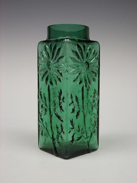 Dartington 'Marguerite' green glass vase. Designed by Frank Thrower by art-of-glass, via Flickr