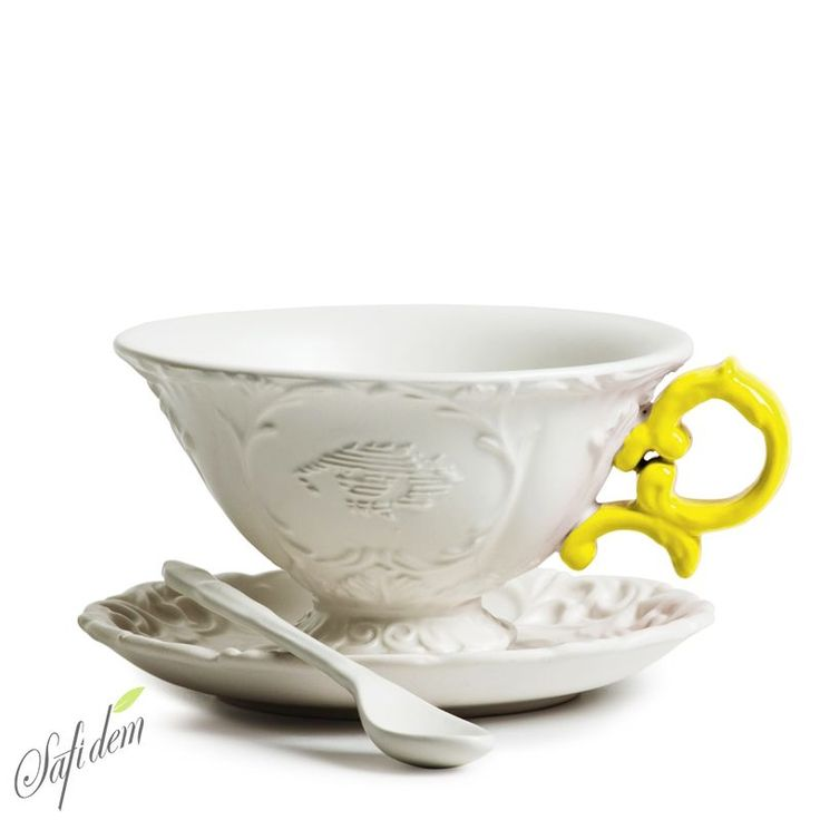 Seletti I-Tea Sarı Kulplu Porselen Büyük Çay Fincanı Çay AşkınAaa