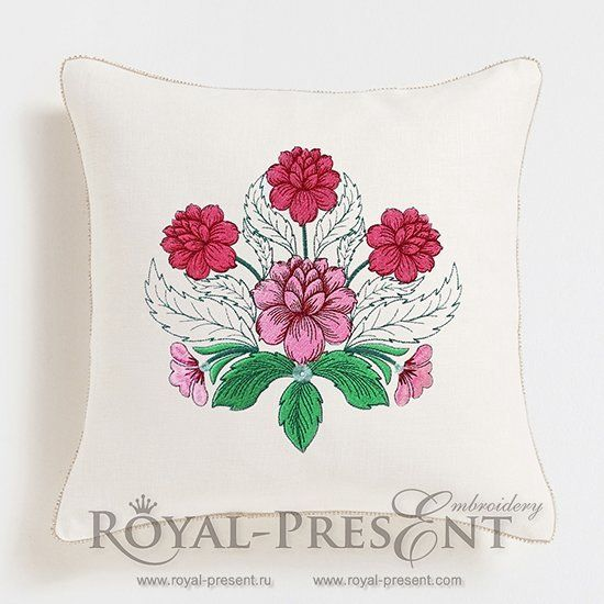 Free Machine Embroidery Design Peonies