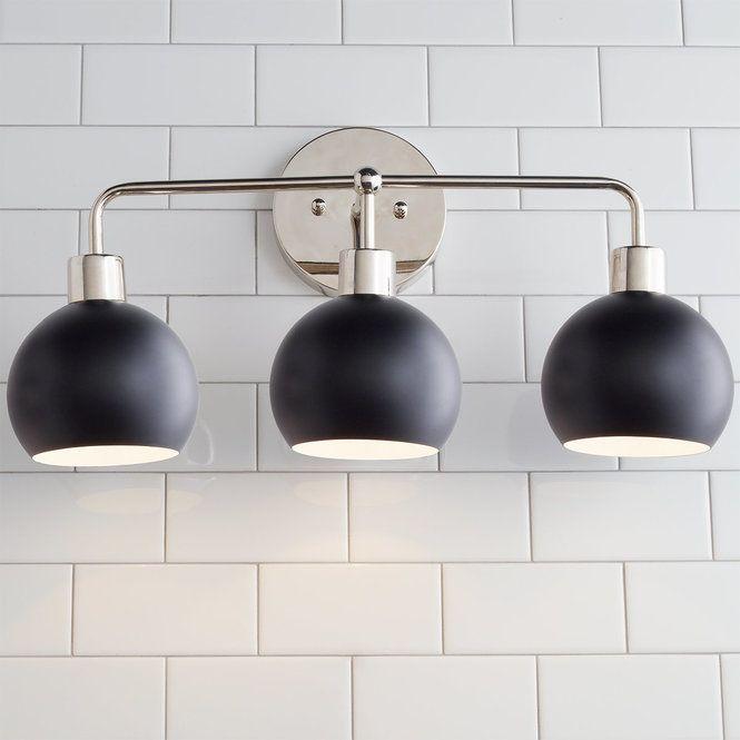 Mid Century Bathroom Light Fixtures: 99 Best Black And White Deco Images On Pinterest
