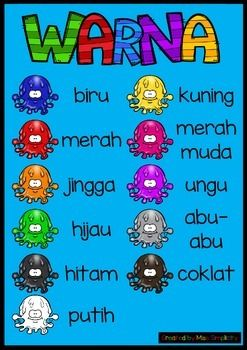 Warna poster in Indonesian (bahasa Indonesia) .