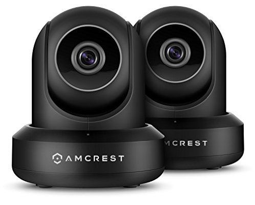 2-Pack Amcrest ProHD 1080P WiFi/Wireless IP Security Camera IP2M-841 (Black)