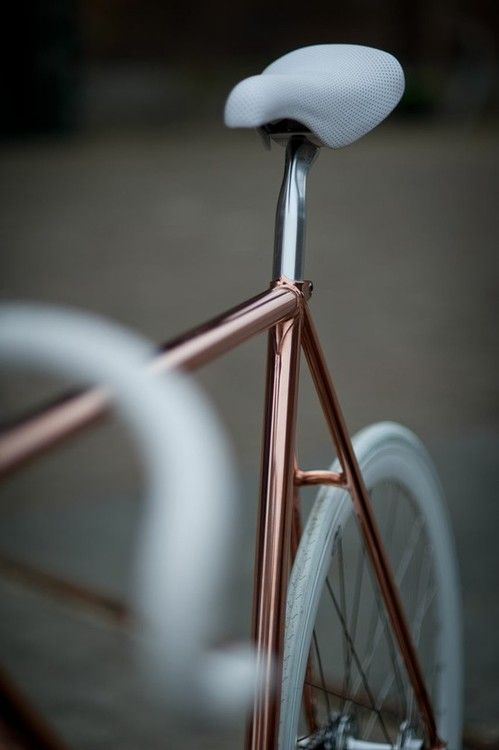 Bicycles, Copper Bikes, Inspiration, Rosegold, Metals, Wheels, Beautiful, Gears, Rose Gold