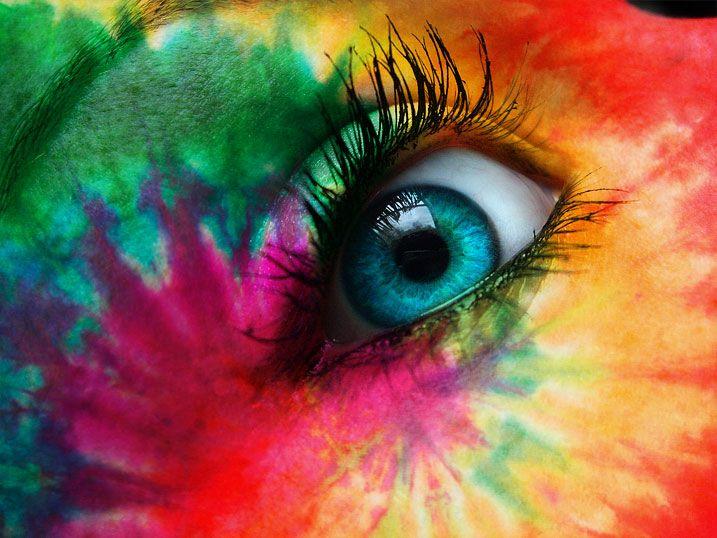 rave: Wall Art, Eye Candy, Eye Makeup, Rainbows Colors, Beautiful, Ties Dyes, Tye Dyes, Hair, Rave Makeup