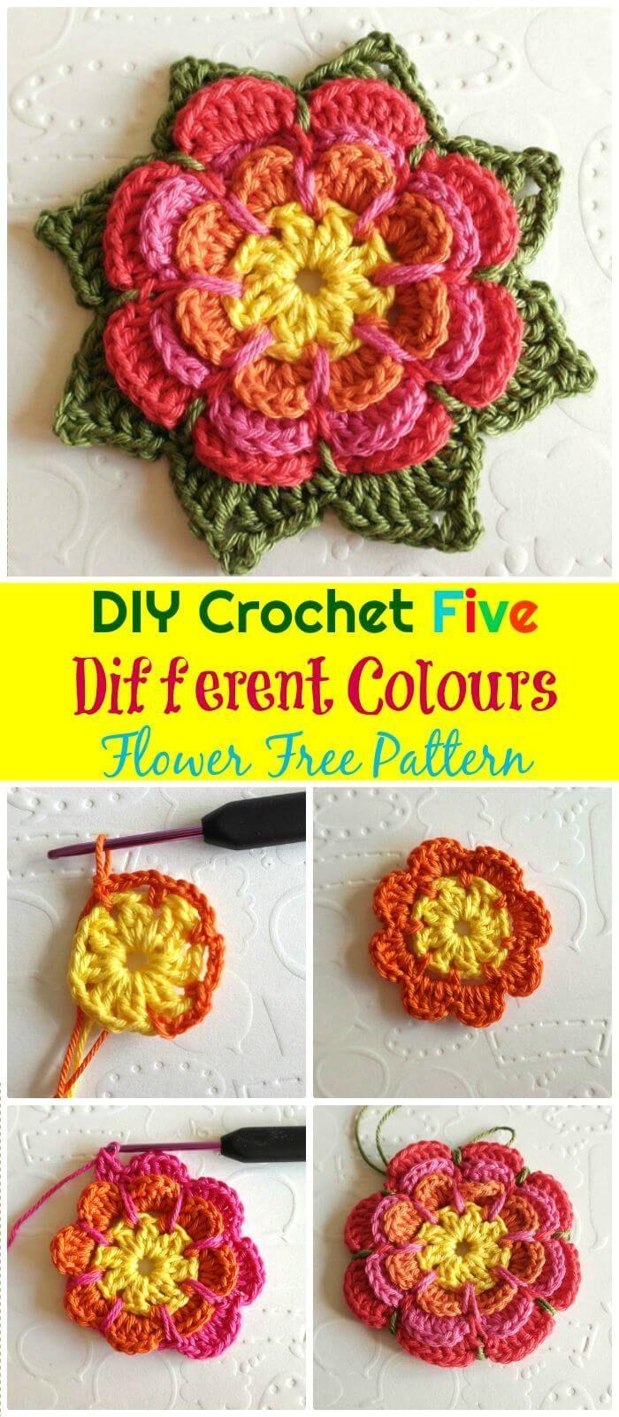 Crochet Flowers 90 Free Crochet Flower Patterns Linda