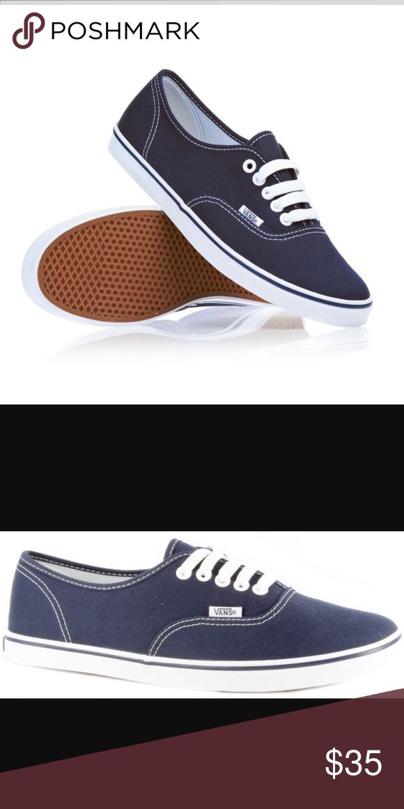 Womens Lo Pro Navy VANS Worn maybe 10 times. Great condition. IRL pics to come. Vans Shoes Sneakers