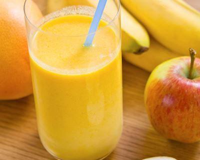 Smoothie pomme-banane au yaourt