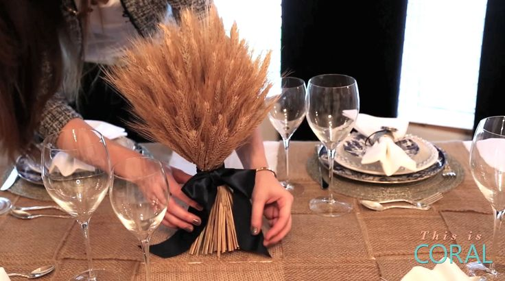 Learn how to create a festive & inexpensive centerpiece for Thanksgiving dinner!