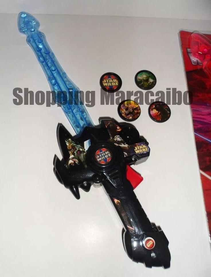 Espada De Star Wars Luz, Sonido Y Laza Tazos * Tienda Fisica - Bs. 3.850,00 en…