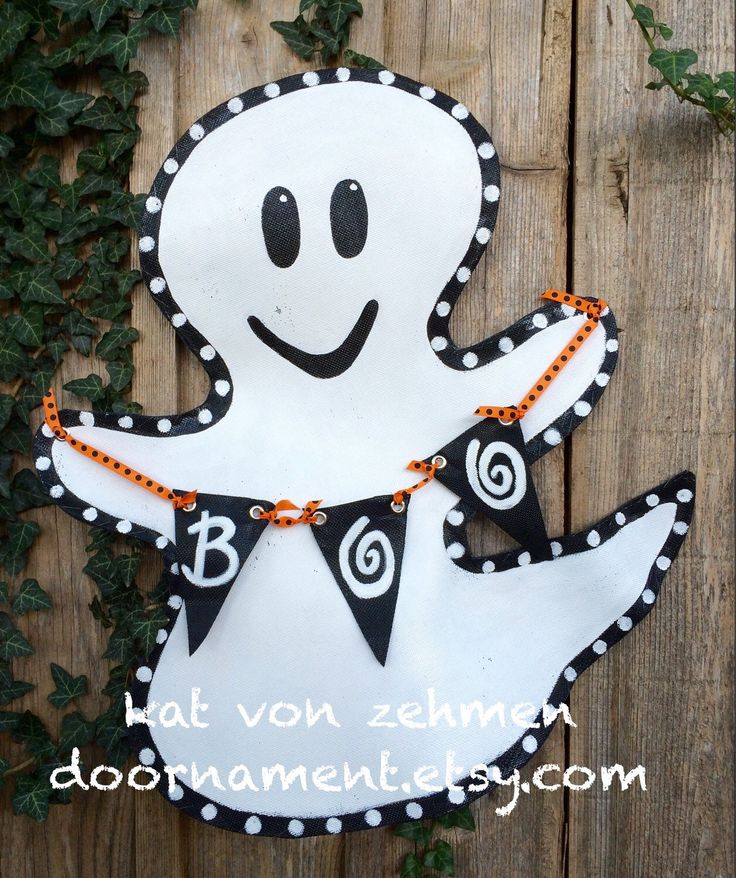 A personal favorite from my Etsy shop https://www.etsy.com/listing/111043731/screen-halloween-ghost-boo-door-decor