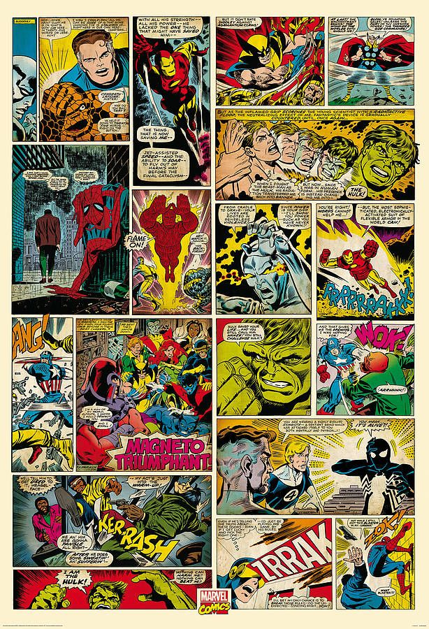 comic book wallpaper mural by little ella james | notonthehighstreet.com